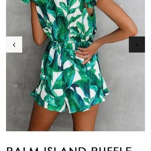 Vici Dresses - Vici Dolls Palm Romper! NWOT, sold out online!